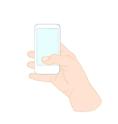 Hand Holding Mobile Phone vector image vector image