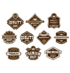 Labels and banners in western style vector image