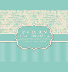 wedding invitation and announcement vector image vector image