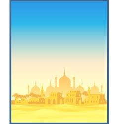Ancient Arab town vector image vector image