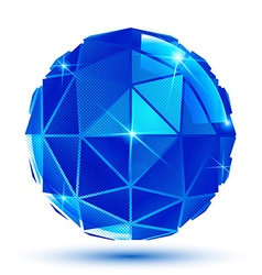 Bright facet radiance 3d eps10 spherical object vector image vector image