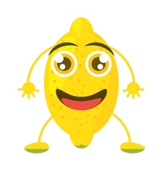 funny lemon smiling greeting vector image