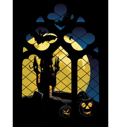 Gothic Window and Moon2 vector image