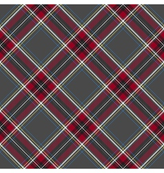 Gray red diagonal check plaid seamless pattern vector image vector image