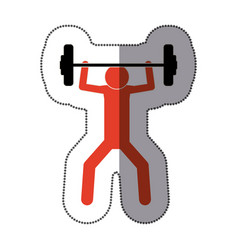 people man finishing up weight icon vector image