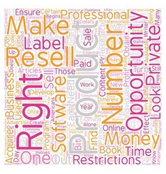 Private Label Resell Rights What You Need to Know vector image
