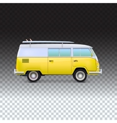 Retro travel van vector image