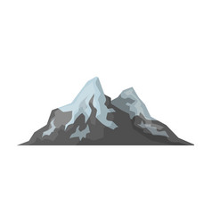 sharp mountains on the tops of which the snow vector image