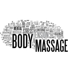 what is a body massage text word cloud concept vector image
