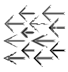 Set of graphical vintage arrows vector image vector image