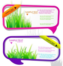 stickers for speech vector image vector image