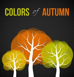 Autumn trees with colorful leaves vector image vector image
