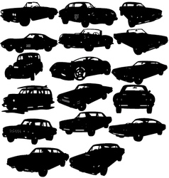 classic car silhouettes vector image vector image
