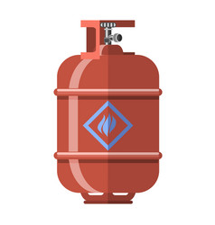 Red gas tank icon vector