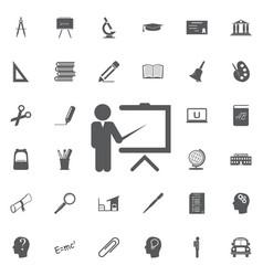 teacher icon trainer symbol modern vector image vector image