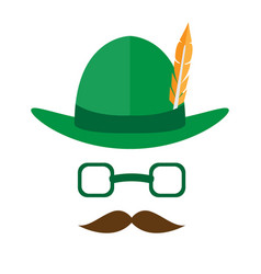 abstract hipster avatar with oktoberfest hat vector image