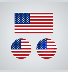american trio flags vector image