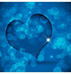 Background with heart vector image