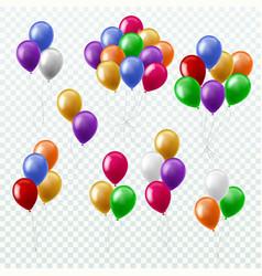 Balloon bunches party decoration color balloons vector