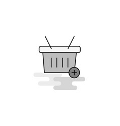 basket web icon flat line filled gray icon vector image