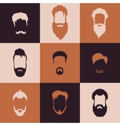 Beards set vector image