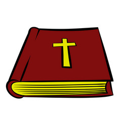 bible book icon icon cartoon vector image