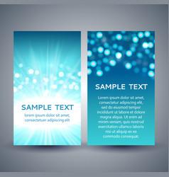 blue bokeh flyer templates vector image