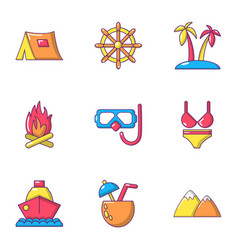 Breakout icons set flat style vector