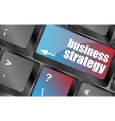 business strategy - business concepts on computer vector image