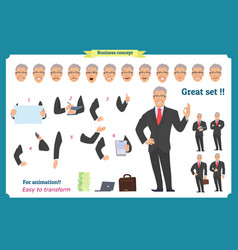 businessman character man in business suit vector image