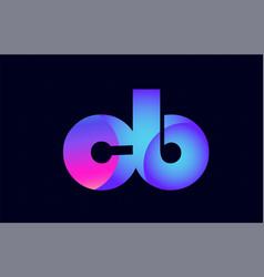Cb c b spink blue gradient alphabet letter vector