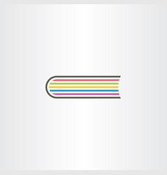 colorful book logo symbol sign vector image