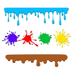 colorful drips vector image vector image