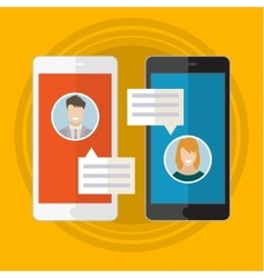 Concept of online chat vector image