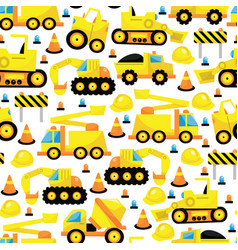 Construction seamless pattern background vector