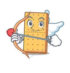 Cupid graham cookies character cartoon vector
