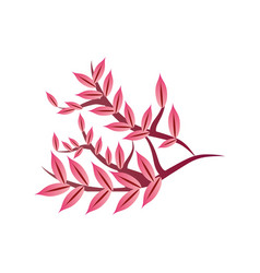 Decorative chinese tree branch on white background vector