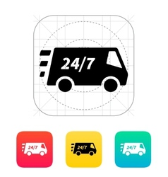 Delivery day and night support icon vector