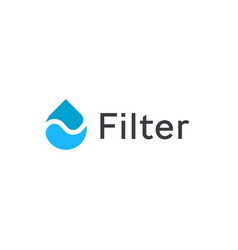divided drop icon water filter logo template vector image