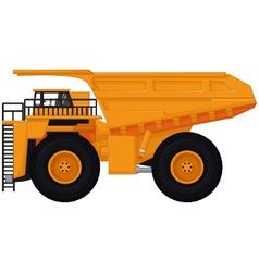 dump truck cartoon for you design vector image