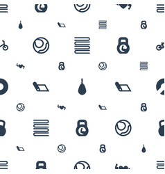 Exercise icons pattern seamless white background vector