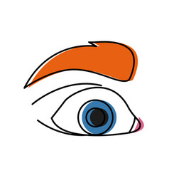 eye pop art cartoon vector image