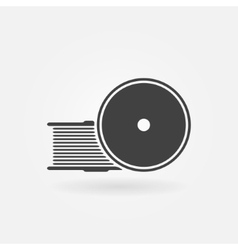 Filament for 3D Printer icon vector image