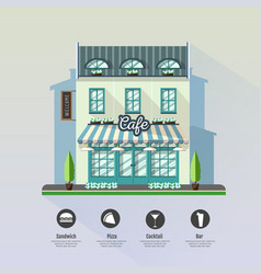 Flat style modern icon design of cafe building vector