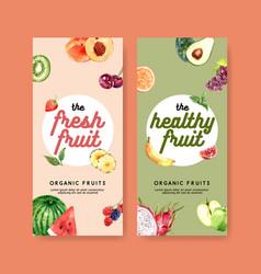 Fruits-themed design flyer design in pastel color vector