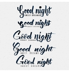 Good night sweet dreams hand lettering vector image