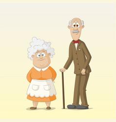 Grandma and grandpa vector
