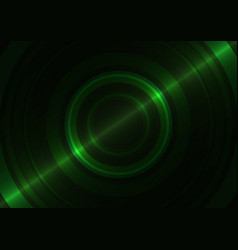 green circle abstract background vector image