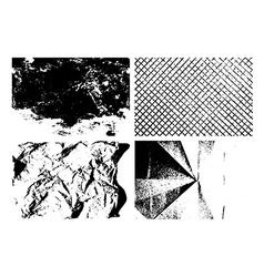 Grunge texture backgrounds set vector image