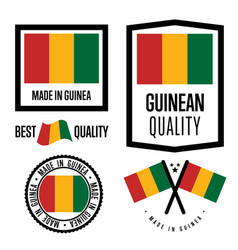 guinea quality label set for goods vector image